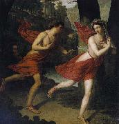 Robert Bateman Pauline as Daphne Fleeing from Apollo oil